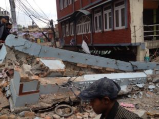 Building damaged in Nepal earthquake