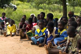school children in Malawi