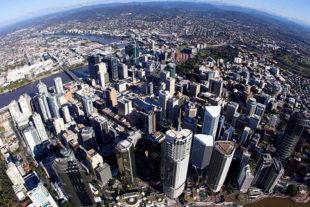 Brisbane, Australia aerial view
