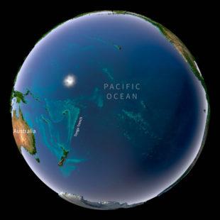 Global map view of Tonga