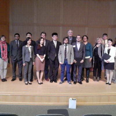 McDonnell Scholars on stage at competition