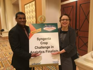 Two WashU students at Sygenta Crop Challenge