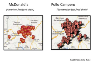 Map of McDonnell, America vs Guatemala