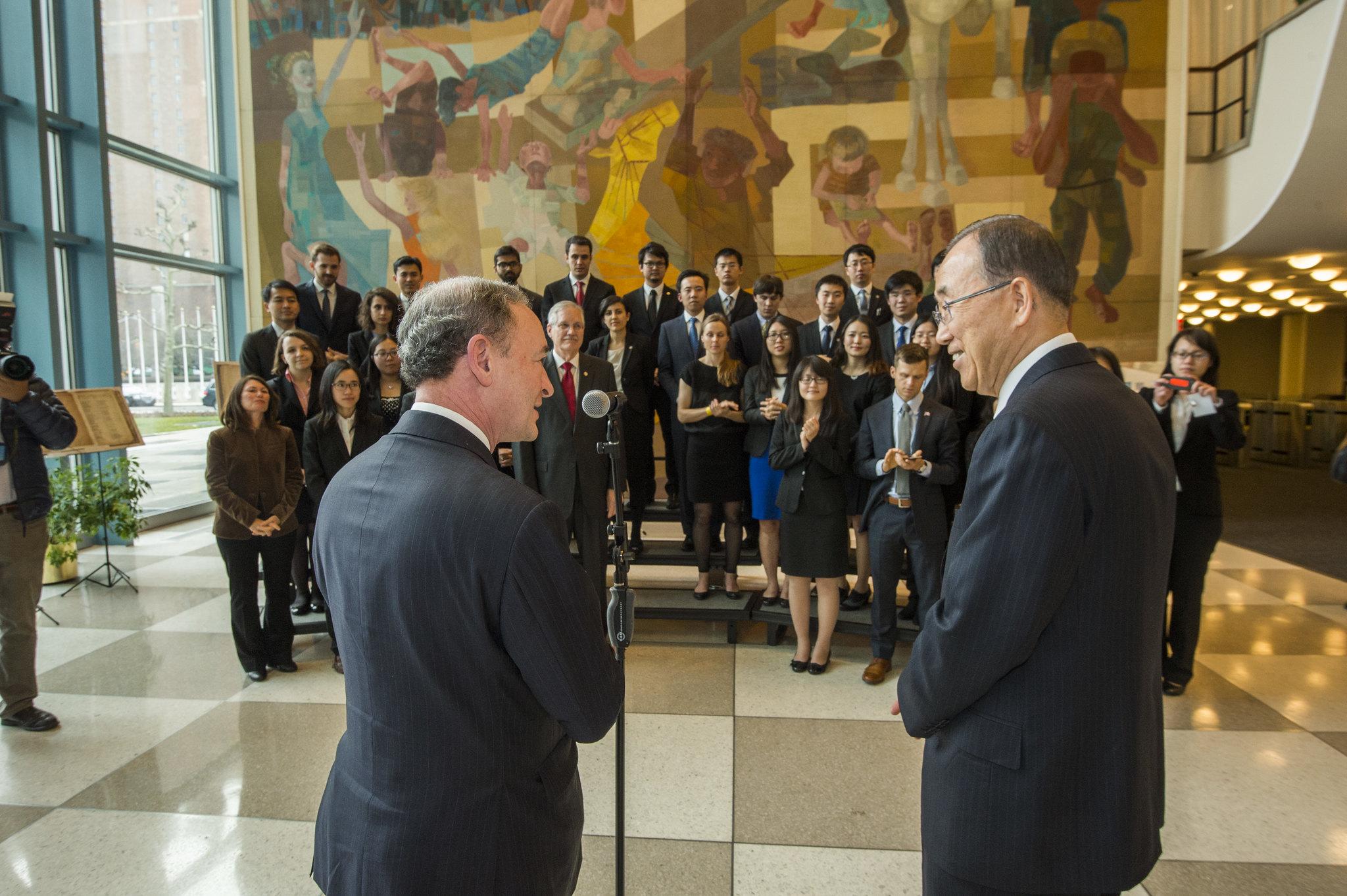 Wrighton and Ban Ki-moon